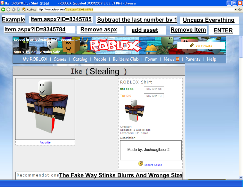 Robloxwiki Shirt Stealing How To